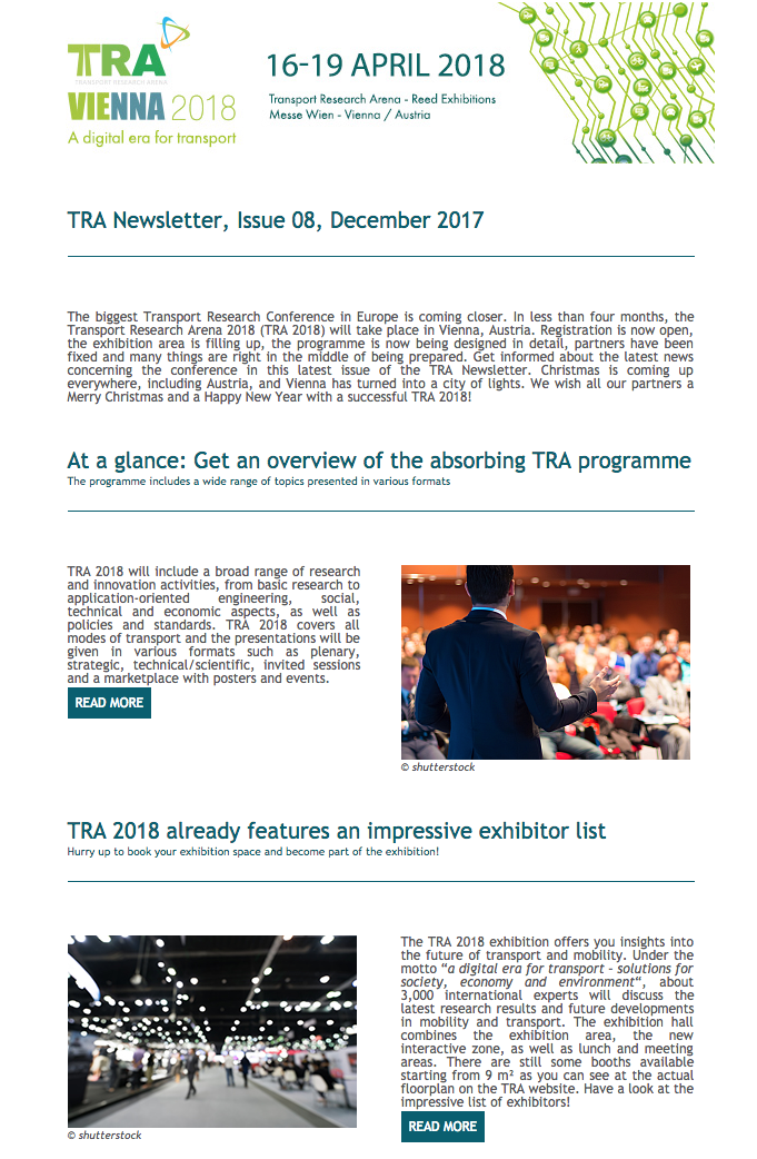 TRA Newsletter Issue 8 December 2017